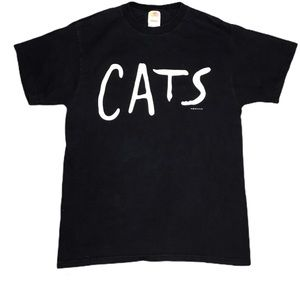Vintage Broadway Cats Graphic Tee Shirt